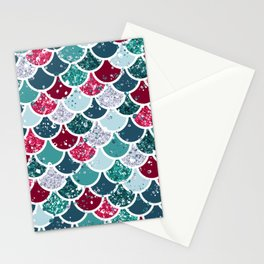 Christmas Mermaid Patterns 13 Stationery Cards