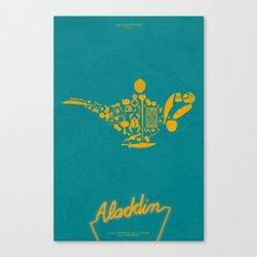 Aladdin Fan Poster Canvas Print