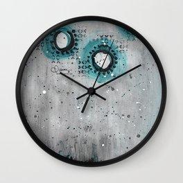 Charcoal Circles Wall Clock