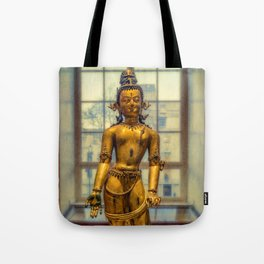 Golden Figurine Tote Bag