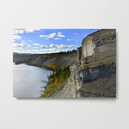 Cliffs on the Yukon River Metal Print