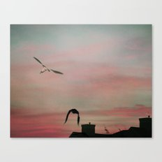 Red Sky at Night Sailor's Delight Canvas Print
