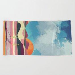 Pink Desert Glow Beach Towel