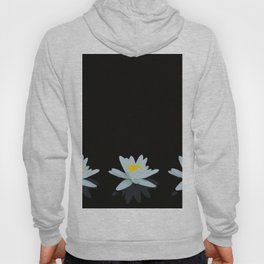Waterlily Flowers On Black Background #decor #society6 #buyart Hoody