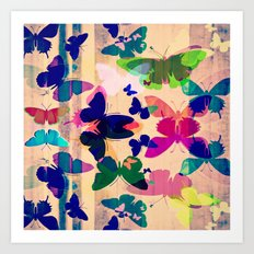 Butterflies on board Art Print