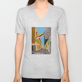 Cartagena de Indias, Colombia Travel Poster Unisex V-Neck