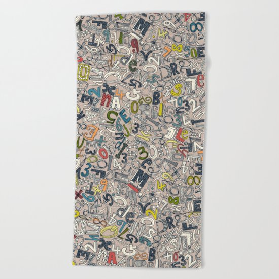A1B2C3 clay Beach Towel