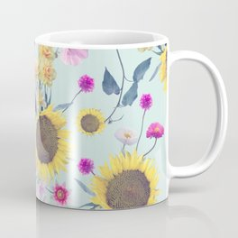 seamless  floral pattern with birds . Endless texture Coffee Mug