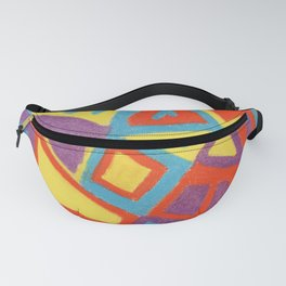 Colorful stained glass with unusual shapes Fanny Pack