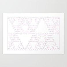 Sierpinski Triangle Art Print