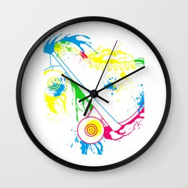 Colored Roller Skates Wall Clock