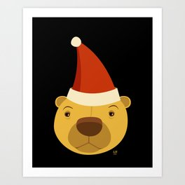 Santa Bear Art Print