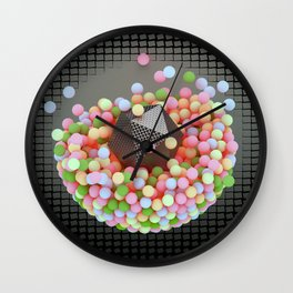 Graphic Light Balls Wall Clock