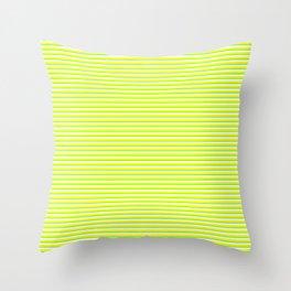 Banana and Lime Yellow and Green Stripes Throw Pillow