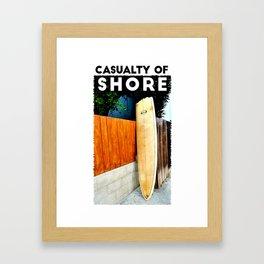 Casualty of Shore Framed Art Print