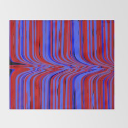 red and blue flowing Throw Blanket