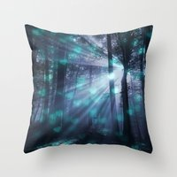 dark souls Throw Pillows featuring Wandering Souls by Lena Photo Art