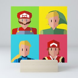Nintendo Minimalist 2 sides poster Mini Art Print