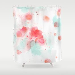 Abstract water lillies Shower Curtain