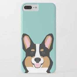 Tricolored Corgi cute corgi dog portrait custom dog art pet friendly dog head cell case iPhone Case