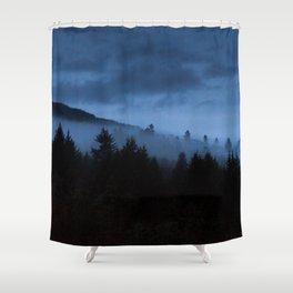 Foggy Mountain Shower Curtain