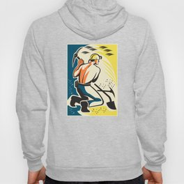 Coal Miner Mining Digging Pick Ax Retro Hoody