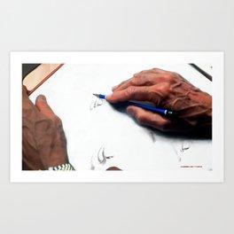 Clint Eastwood Drawing Art Print