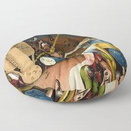 The Garden of Earthly Delights Bosch Hell Bird Man Floor Pillow