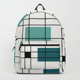 1950's Abstract Art Teal Backpack