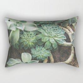 Botanical Gardens - Succulent #625 Rectangular Pillow