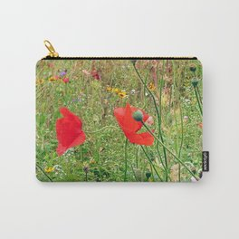 three flowers/Drei Blüten Carry-All Pouch