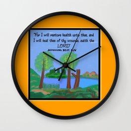 Jeremiah 30:17, KJV Wall Clock