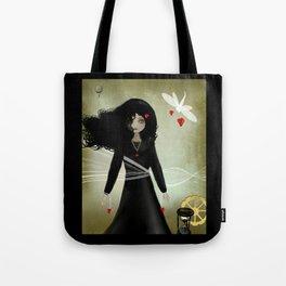 Dark Steampunk Valentine Bound by Love Tote Bag