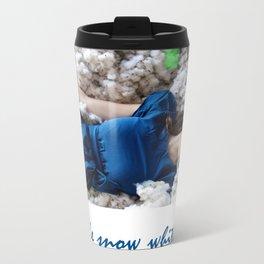 the snow white Metal Travel Mug