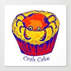 crabcake blue Canvas Print