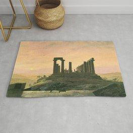 Caspar David Friedrich - Temple of Juno in Agrigento.jpg Rug