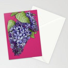 Luminous lilacs Stationery Cards