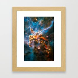 Carina Nebula, Galaxy Background, Universe Large Print, Space Wall Art Decor, Deep Space Poster Framed Art Print
