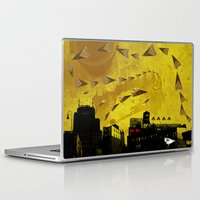 airplanes Laptop & iPad Skins featuring airplanes and cigarettes by Trevor Bittinger