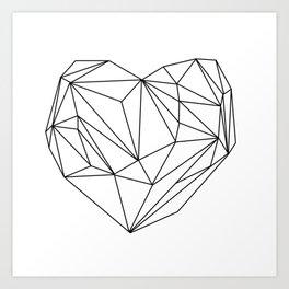Heart Graphic (black on white) Art Print