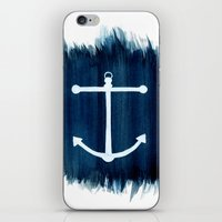 anchor iPhone & iPod Skins featuring Anchor by Bridget Davidson