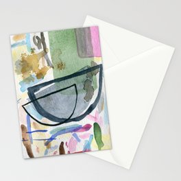 Abstract watercolor still life #1 Stationery Cards