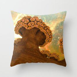 Broccoli Planet in Fall Throw Pillow