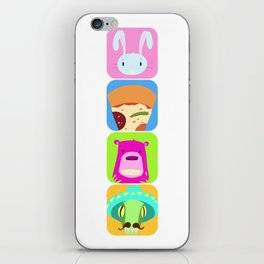 Floating BunnyHead Pop Square iPhone Skin
