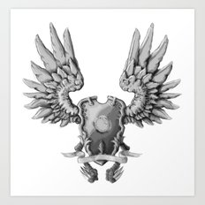 FF14 - Chocobo / materia coat of arms Art Print