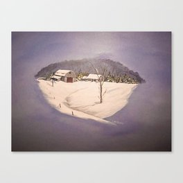 Janurary Morning Canvas Print