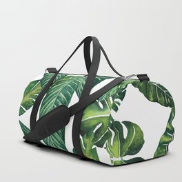 Jungle Leaves, Banana, Monstera II #society6 Duffle Bag