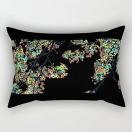 Mismatch Color Hatch Rectangular Pillow