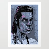 nick cave Art Prints featuring Nick Cave by Melissa Dow Illustration