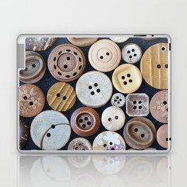 Wooden Buttons Laptop & iPad Skin